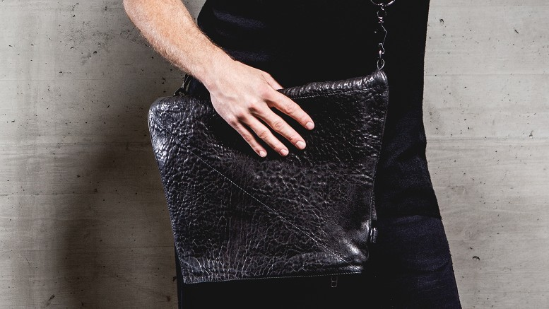 13&9 Design_GEOMETRIC COLLECTION BAGS_HEXAGON BAG_MEN_folded_Markus_Mansi_MOMA